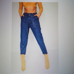 336c2a2685d Boohoo Jeans - Boohoo Paperbag Waist Mom Jeans